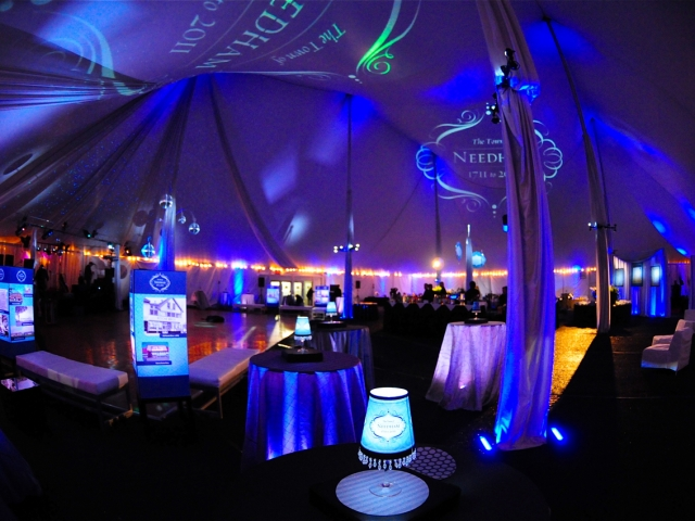 Corporate Event Lighting - Monogram Projection